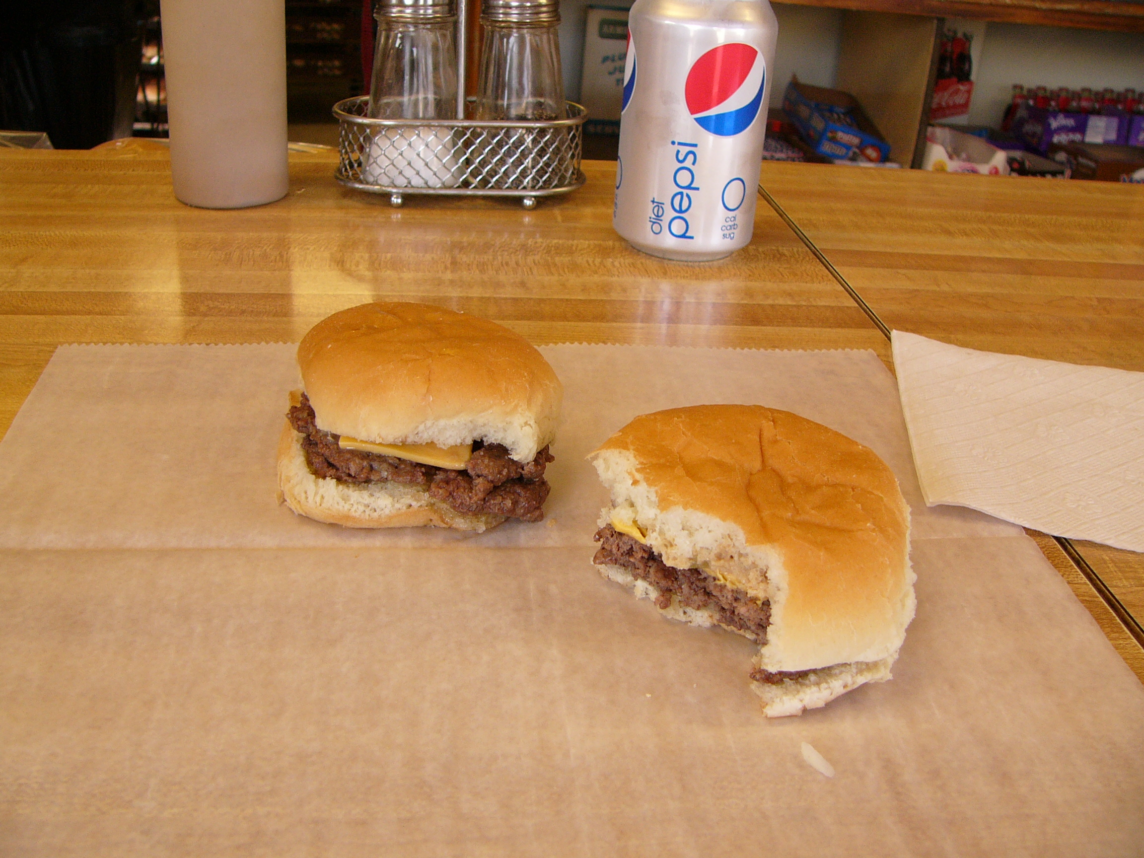 Two Crabill's Hamburgers is not enough.