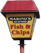 Marinos Fish and Chips Sign