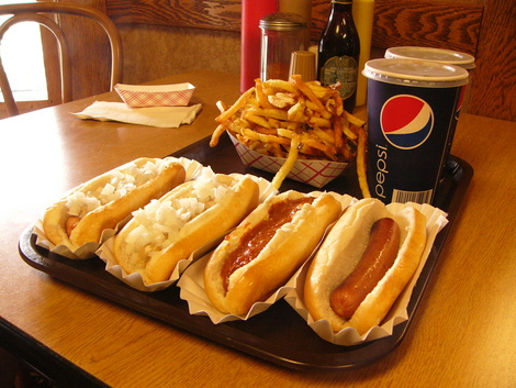 Hot Dog Heaven Amherst Ohio Menu