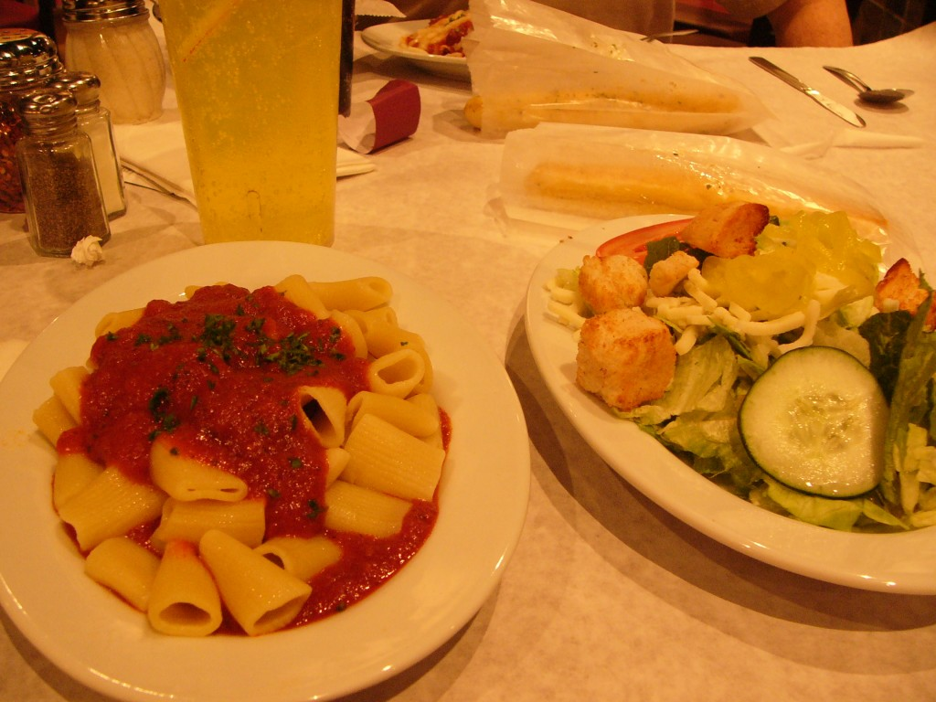 Carfagna's Kitchen's Pasta and Salad.