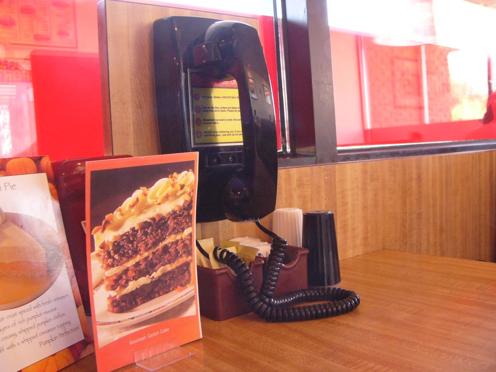 The Phone for Ordering at Sumburger Drive-In